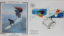 ENVELOPPE PREMIER JOUR - 9 x 16,5 cm - ANNEE 2004 - SNOWBOARD SURF