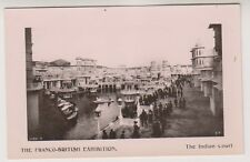 Franco British Exhibition, London 1908 postcard - The Indian Court - RP