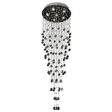 NEW Crystal Pendant Light Galaxy Circle Ceiling Rain Drop Chandelier Evrosvet
