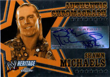 WWE Shawn Michaels 2006 Topps Heritage Chrome Chromagraph Autograph Card