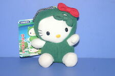 SANRIO Hello Kitty Cat Marimo Plush Doll Keychain HOKKAIDO JAPAN ONLY RARE