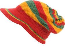 Rasta VISOR Hat - Multicoloured (Design R4R0131) - FREE UK P&P !