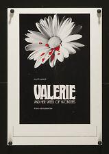 VALERIE AND HER WEEK OF WONDERS 1974 U.S. Mini Window Card poster Jaromil Jires