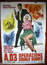 A.D.3 Operazione Squalo Bianco (Rod Dana) Italian 2F Movie Poster 1960s