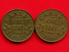 1921 & 1926 Canada 1 Cent Coins