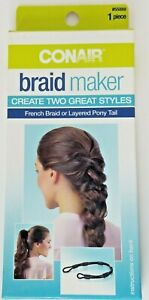Conair Braid Maker Kit #55889 French Braid or Layered Pony Tail with Instruction