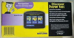 GPS Navigation for Dummies Model FD-220 GPS Device, Owner's Manual, Charger MORE