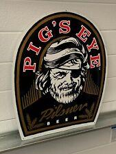 Pigs Eye Pilsner Beer Sign Brewery Gas Oil Soda Advertising Nice!
