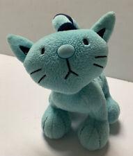 "PILCHARD Bob The Builder Plush Stuffed Animal Kitty 6"" Cat Blue Born To Play UK"