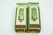 MATCHED PAIR 6N8S /6SN7 /1578/ MELZ TUBES /TESTED BY ROETEST V10/ NOS/ DATE 1956