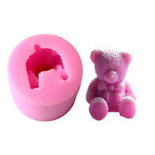3D Teddy Bear Fondant Silicone Mold Sugar Craft Cake Decorating Baking DIY Tool