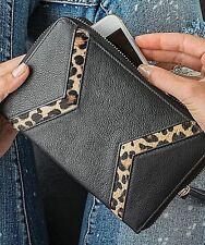 Silpada Zahara Wristlet F0004 Genuine Leather Black Animal Print Leopard New