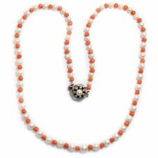 Wonderful Chain Made of Pearls and Coral, Bead, Coral, Collier / Pearl Coral