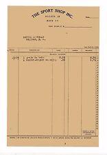 VINTAGE INVOICE / THE SPORT SHOP INC / SAN JUAN PUERTO RICO 1939