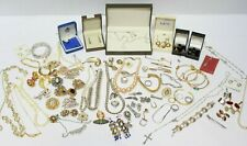 1KG Job Lot Antique + Vintage Jewellery Brooches Necklaces Earrings Rings - 207