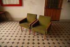 Set of Green Funky Vintage Lounge Chairs