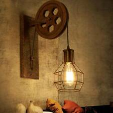 Rétro Luminaire Suspendu Murale Plafonnier Poulie de Industrielle lampe