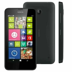 Nokia Lumia 630 Microsoft Windows Smart Mobile Phone Unlocked 8GB Black