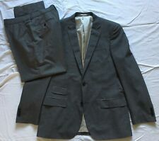 F&F Mens Single Breasted Grey 2 Piece Suit 42R Jkt 38/29 Trousers