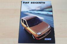 95196) Fiat Seicento Hobby Prospekt 01/1999