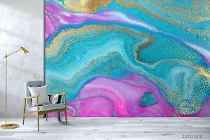 3D Bright Waves Wallpaper Wall Mural Removable Self-adhesive Sticker1035