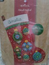 Bucilla Pretty Tree Trimmers Felt Applique Stocking Kit 86969E Colorful, new kit