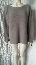 Peruvian Connection 100% alpaca taupe unlined jumper size XL