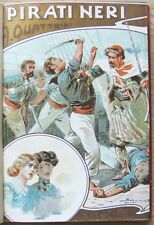 Quattrini_I PIRATI NERI_Soc. Ed. Roma, I ed. 1906*_Tavole f.t. - RARO* >>> vedi