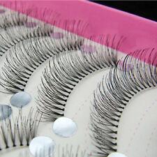 10 Pairs Natural Thick Fiber False Eyelashes Long Fake Eye Lashes Makeup Pretty