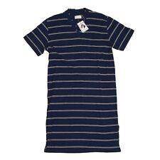 NOVILA Nachthemd Night Shirt Gr 46/48 Blau Blue Made in Germany Streifen Stripes