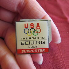 Usa The Road To Beijing 2008 Olympics Supporter Pin Olympic Collector Pins