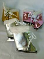 """DOLL CLOTHES - PINK SPARKLE ICE SKATES -  FITS  AMERICAN GIRL AND MOST 18"""" DOLLS"""