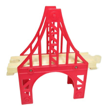 "5.5"" Small Red Suspension Bridge Brio Kidcraft Thomas Train Wooden Railway Track"