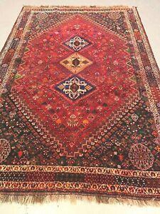 antiques-swiss******  Beautiful Antique IndoGHASHGHAII rug  6` x  9` ft