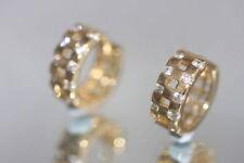 Hoop Yellow Gold Filled Fine Diamond Earrings