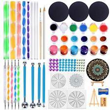 32 Pcs Mandala Dotting Tools Set with 12-Color Acrylic Paint-Stencil Sharpener