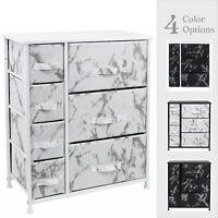 Sorbus Dresser w/ 7 Drawers - Marble Design Bedroom Storage Chest Organizer Unit