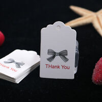 100pcs Blank Fashion Kraft Paper Hang Tags Wedding Party Favor Label Gift Cards