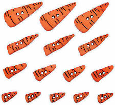 Dress It up Buttons - 15pcs Carrot Noses