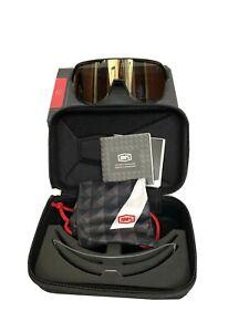 100% S2 Sunglasses Matte Black Soft Gold Lens Plus Clear Lens 100 Percent New
