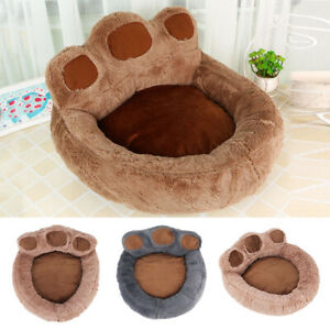 Dog Cat Pet Calming Beds Large Mat Comfy Puppy Washable Fluffy Cushion Plush Paw