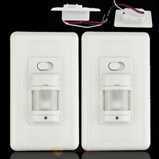 2x Auto On/Off Infrared PIR Occupancy Vacancy Motion Sensor Light Lamp Switch US