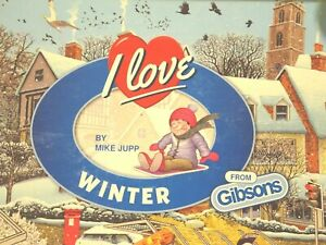 Gibsons I LOVE WINTER Mike Jupp Comedy 1000 Piece Jigsaw G7056 COMPLETE