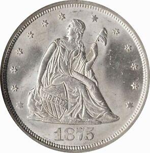 1875-S Twenty Cent Piece BF-9. Rarity-2 MS66 NGC
