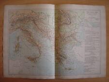 CARTE physique et économique de l' ITALIE de la TURQUIE et de la GRECE Grèce
