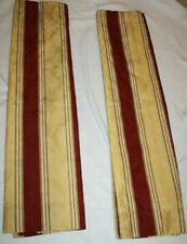 Waverly CHIANTI Burgundy Gold Stripes Window Treatment Panels Set