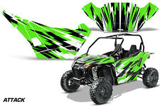 Graphics Kit Decal Wrap For Arctic Cat Wildcat Sport XT 700 2015-2016 ATTACK GRN