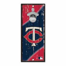 MLB Minnesota Twins Baseball Bottle Opener Wood Sign Holzschild Holz Wandschmuck