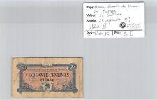 CHAMBRE DE COMMERCE TARBES - BILLET DE 50 C 23-9-17 SERIE IV