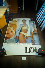 LOU L LINGERIE 4x6 ft Bus Shelter Original Vintage Sexy Advertising Poster